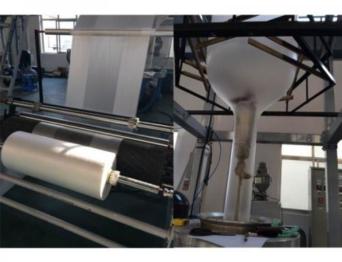 Film blowing machine operation