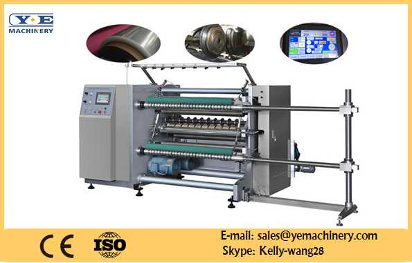 High Speed PLC Controlled Slitting and Rewinding Machine