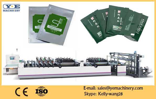 3 side sealing and central sealing bag making machine
