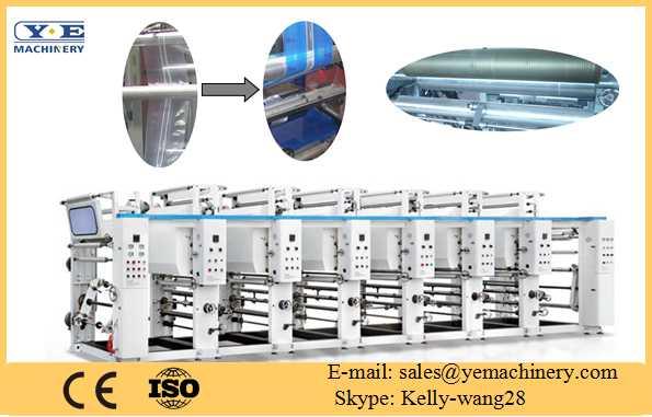 3Color Rotogravure Printing Machine Special for zipper film
