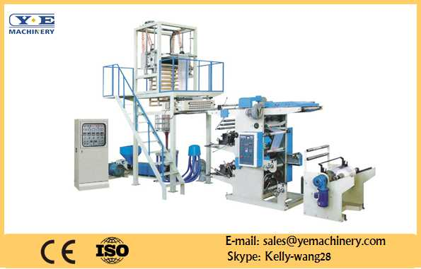 PE film blowing machine in-line 2color flexo printer