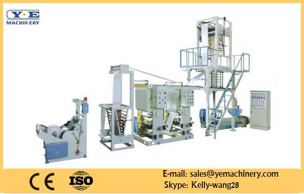 PE film blowing machine in-line 2color Gravure printer