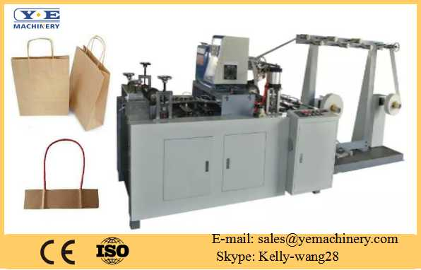 Automatic paper bag handle making machine
