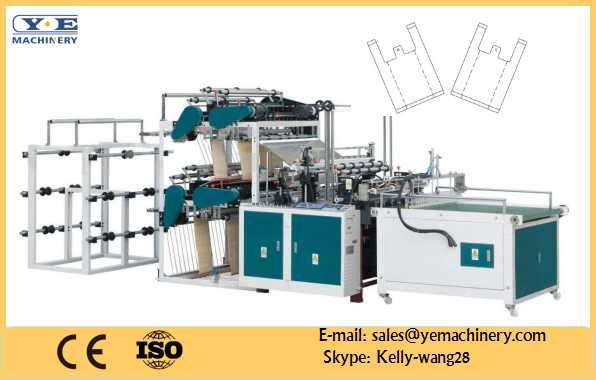 10 lines T Shirt bag making machine