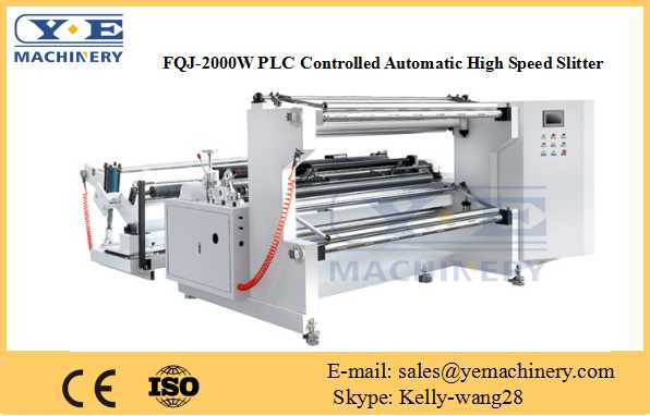 PLC Controlled Automatic High Speed Slitting Machine