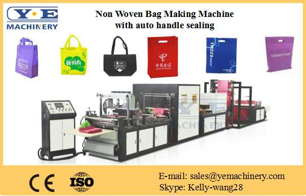 Non Woven Bag Making Machine with auto handle sealing